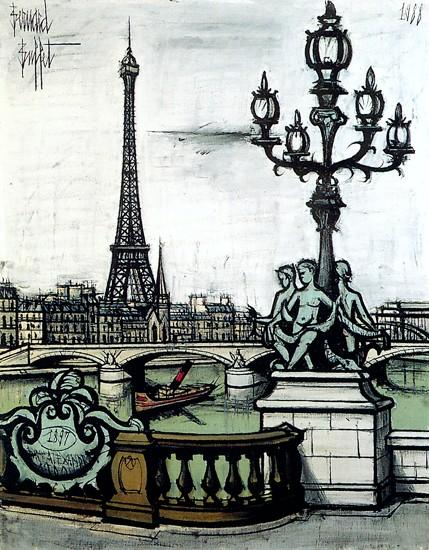 Célèbre Bernard BUFFET ( 1928 - 1999 ) - Peintre Francais - French Painter FB48